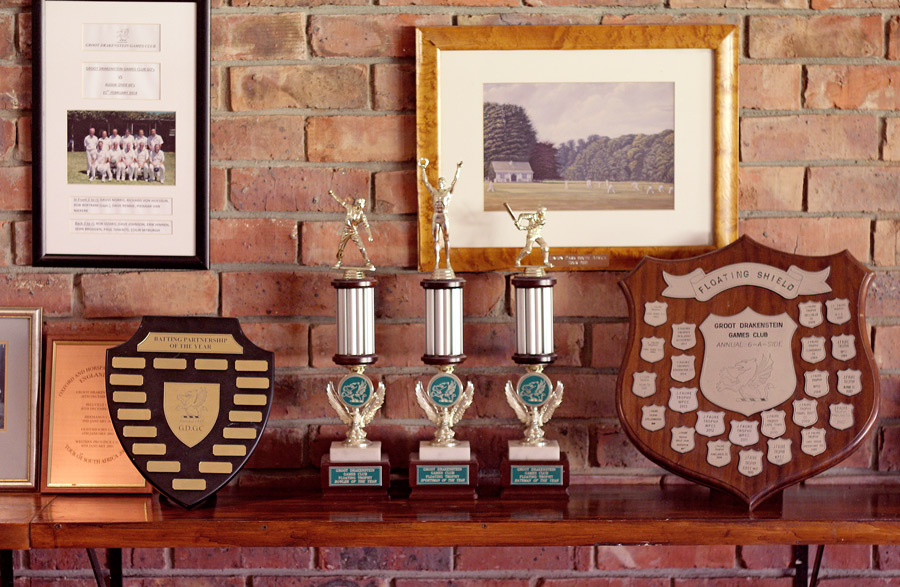 Some of the trophies on display at Groot Drak