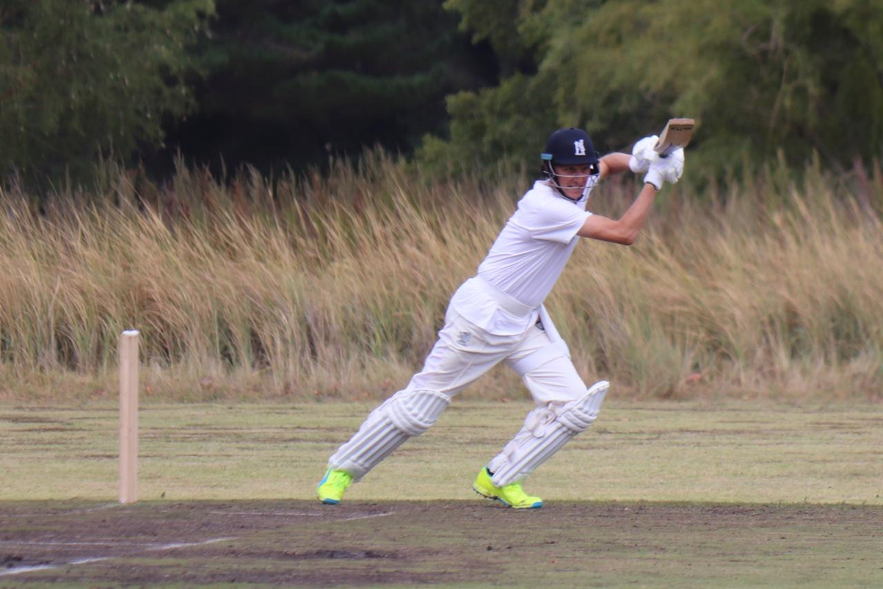 Textbook cover drive from Allan Donald